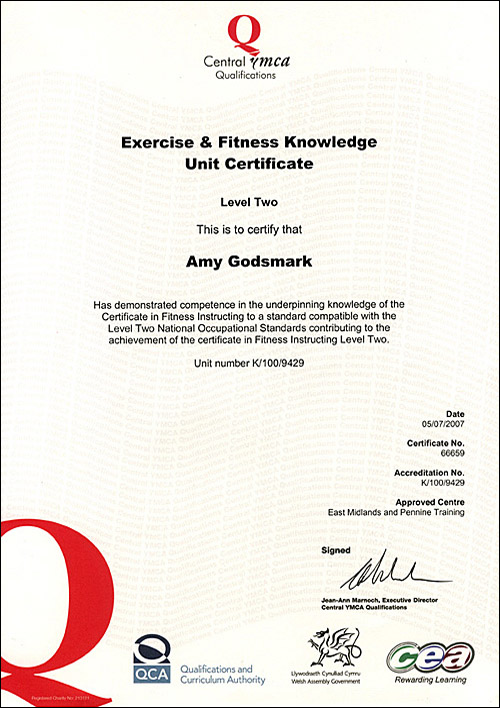 Fitness Instructor Certificate Fitness Amp Pilates Instructor